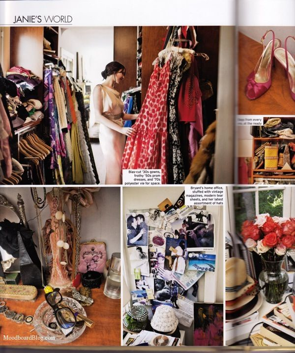 Mad Men Costume Designer Janie Bryant S Closet From The Book Ellements Of Personal Style Via Moodboard Celebrity Dressing Room