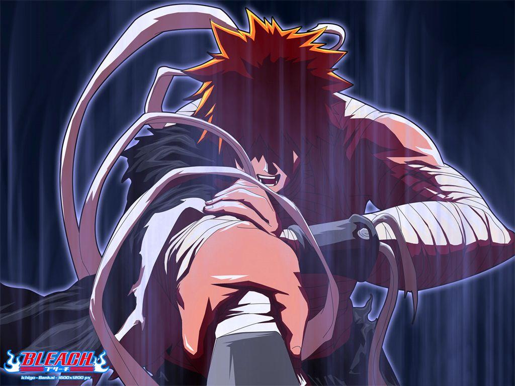 Bleach ichigo goes bankai for the 1st time anime
