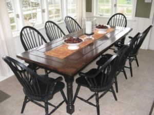 Harvest Table - thick plank - rustic finish - London Furniture For Sale - Kijiji London Canada.