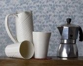 P-Cup. I Walk The Line Porcelain Cups Collection. modern ceramic tableware. Design by Wapa Studio.