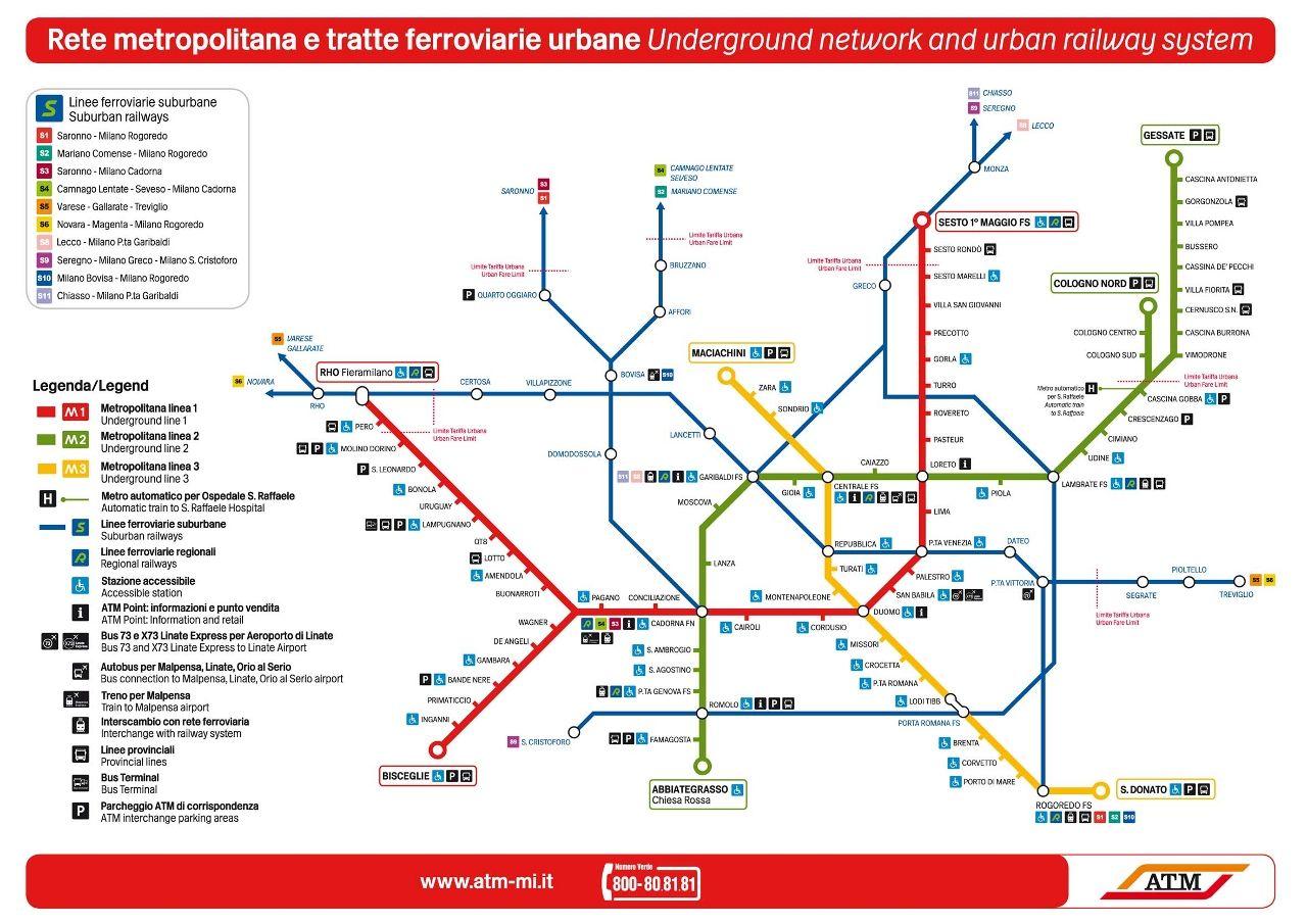 MilanMetro Subway Map Pinterest Subway map and Public transport