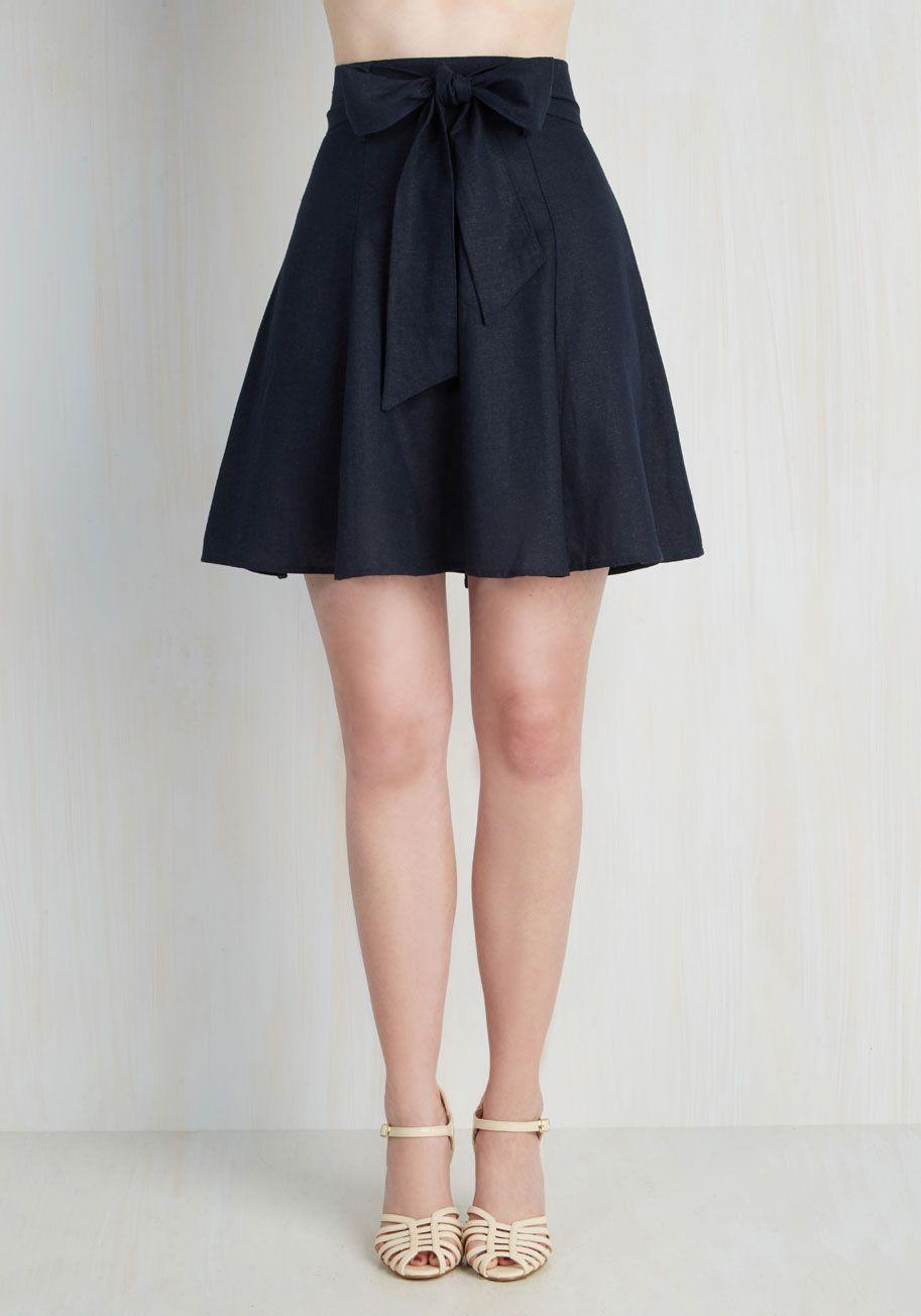 Navy Aline Skirt