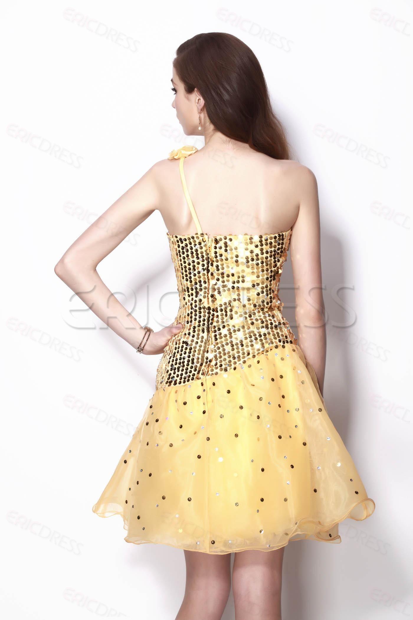 Mini Length One-shoulder Natilie's Evening/Cocktail Dress.