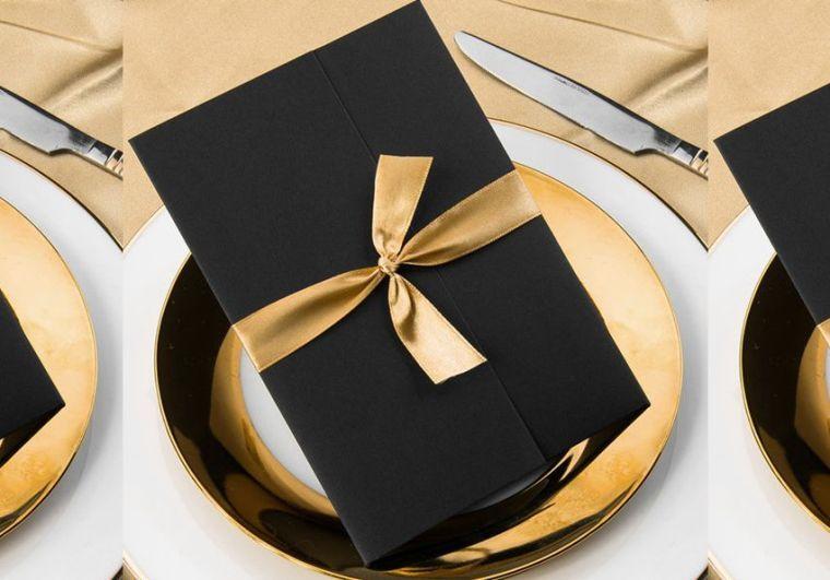 Schwarz Gold Deko Ideen Für Eine Unvergessliche Hochzeit