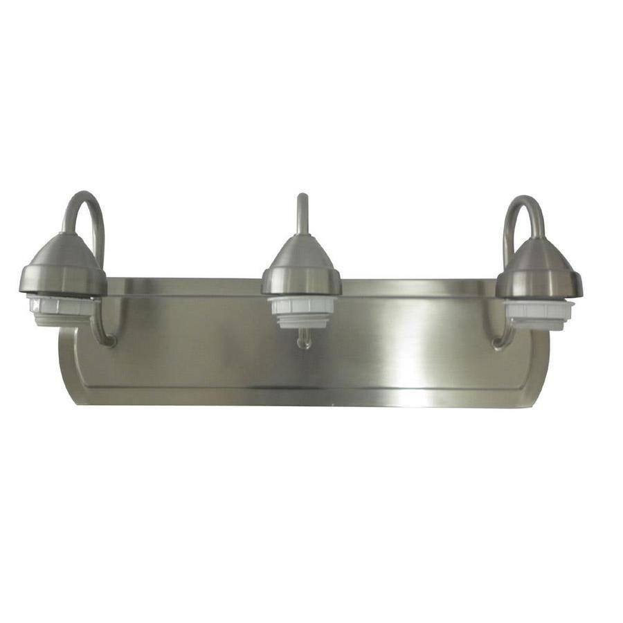 Portfolio 3Light 6in Brushed Nickel Vanity Light Bar Suburban