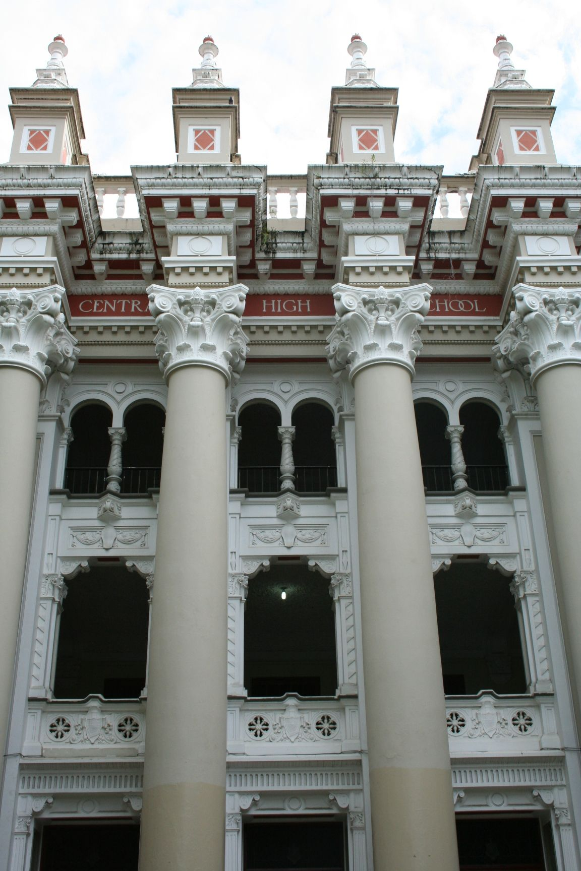 Detail Of Old Central High School Santurce Puerto Rico