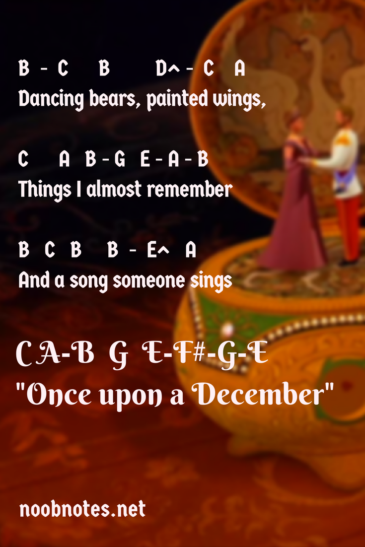 Once upon a december flute notes