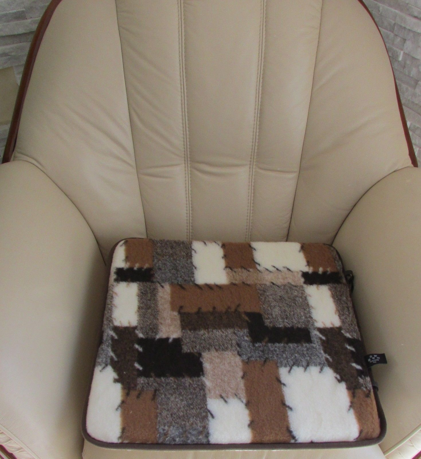 Chair cushion seat stmerino wool car made in germany products