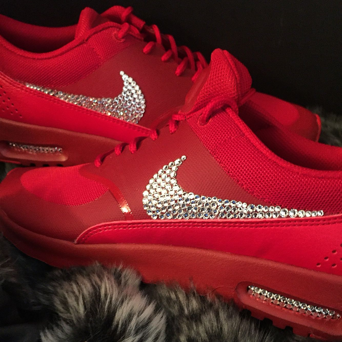AHHH LOVE Nike air max Thea with Swarovski Crystals  kotd  53e9f098ce8e