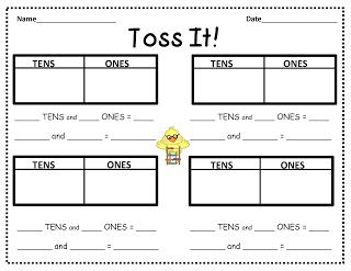 Toss It Make A Quick Place Value Game  Tossed Gaming And Math