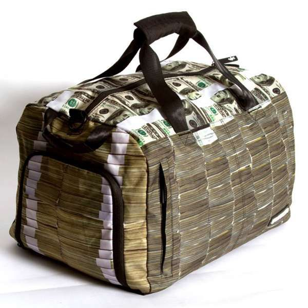 Sprayground s  Money Stacks Duffle Bag  Fools Both Thieves and Cops  travel   suitcases trendhunter.com aea10def44