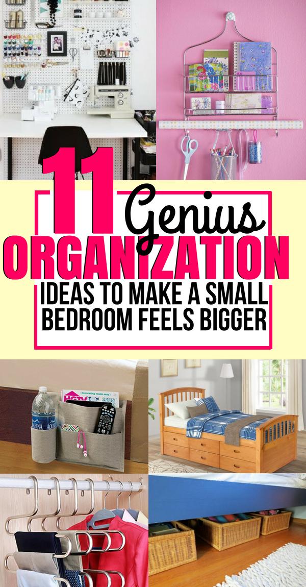 11 Genius Organization Hacks For Tiny Bedroom Small Bedroom