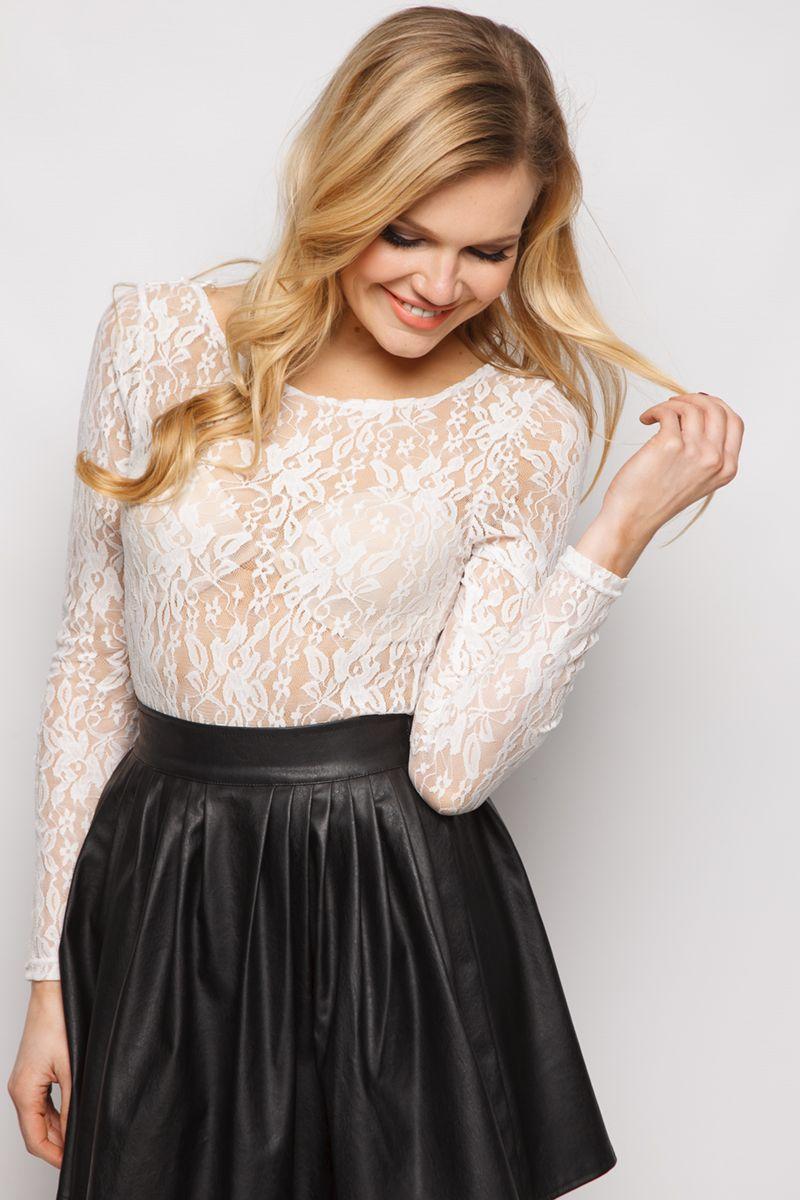 Lace bodysuit styles  Aime White Lace Bodysuit  FashionToDieFor  Pinterest  White lace