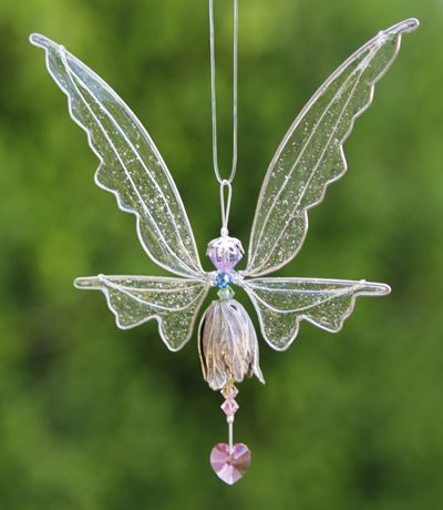 Crystal Fairy Suncatcher Silver