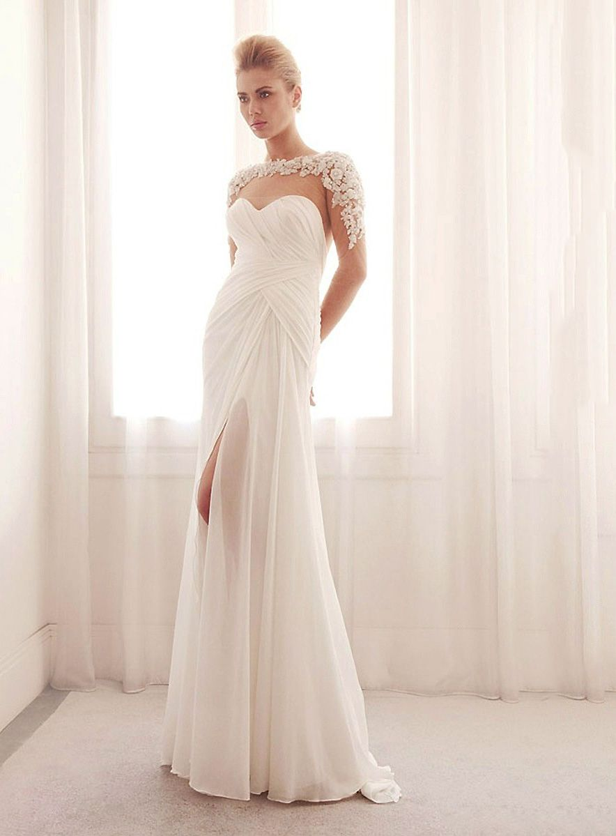 Hideous wedding dresses  Sexy FloorLength TrumpetMermaid Tulle Wedding Dress With Beading