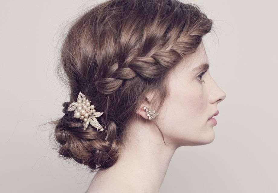 French Plait Hairstyles For Weddings Google Search
