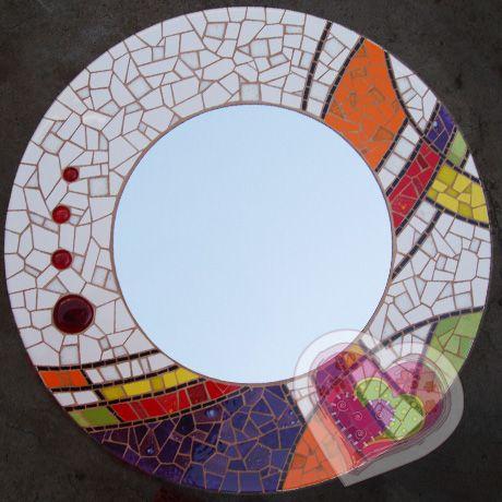 mosaico-espejo-redondo.jpg (460×460)   Mosaic mirrors   Pinterest ...