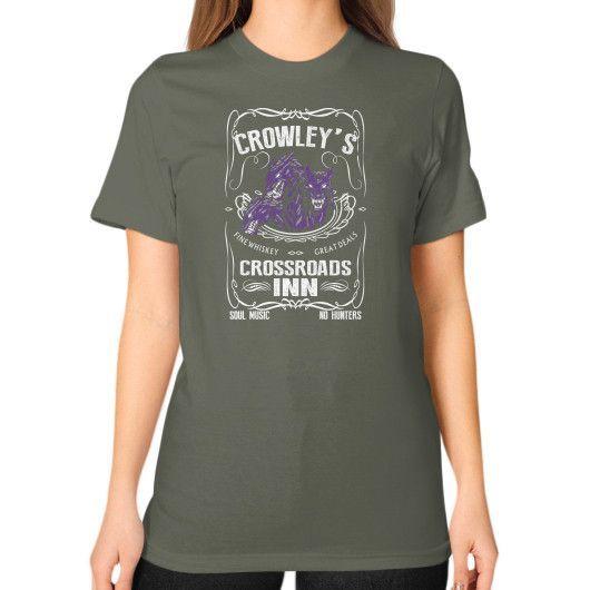 Apparels crowley Unisex T-Shirt (on woman)