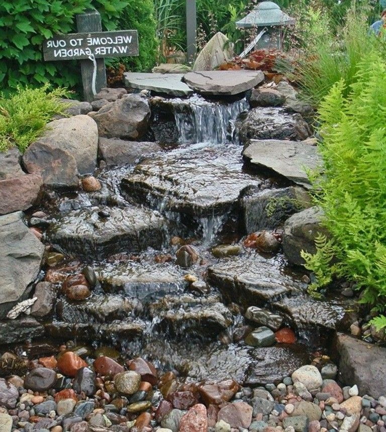 44 Beauty Small Backyard Waterfall Design Ideas Waterfalls Backyard Water Features In The Garden Pond Landscaping