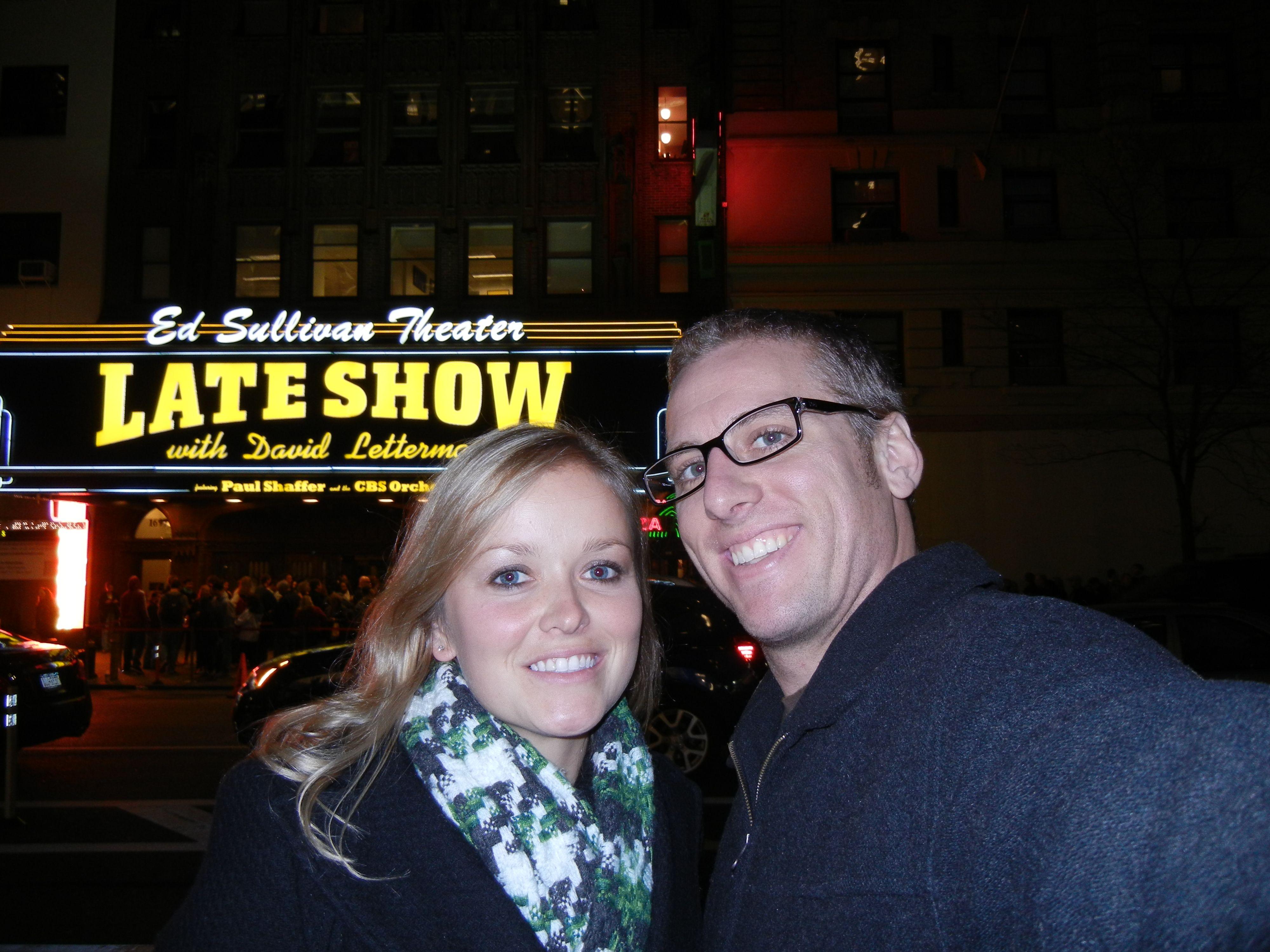 The #DavidLettermanShow! We had a blast!   New York City in New York