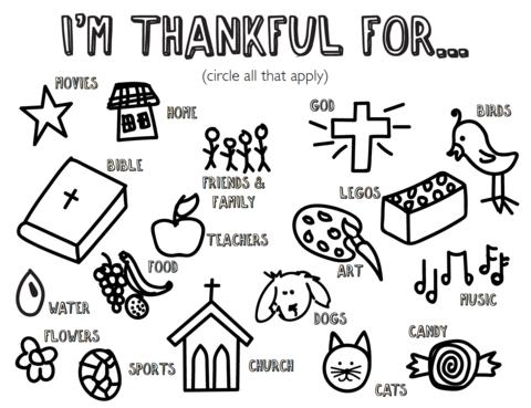 Free Thankful Coloring Page Kids ChurchChurch