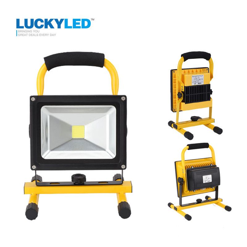 Luckyled Portable Rechargeable Led Flood Light 10w 20w Waterproof Ip65 Camping Lamp Outdoor Spotlight Floodlight Car Charge Camping Lamp Flood Lights Led Flood