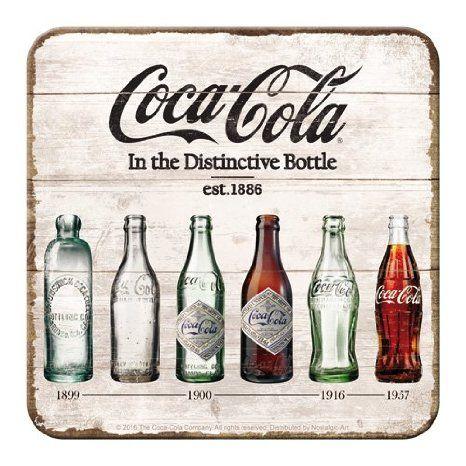 Nostalgic-Art 46141 Metall-Untersetzer Coca-Cola Bottle Timeline