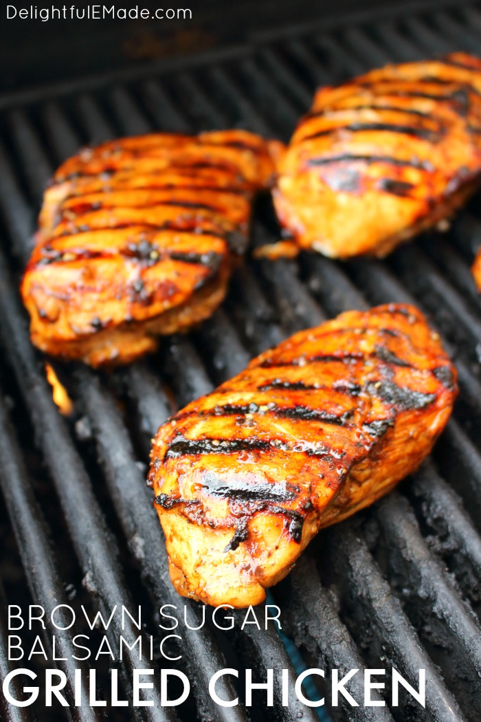 Brown Sugar Balsamic Grilled Chicken {Your new favorite EASY Chicken Marinade!}
