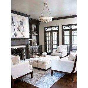 Delightful Room · Art Deco Living Room Black White