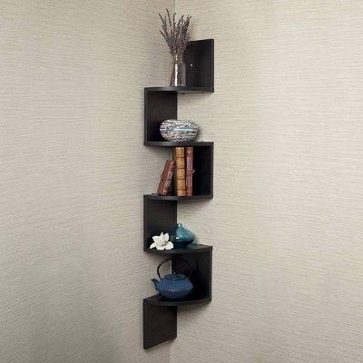 48 5 X 7 7 Large Corner Shelf Black Danya B Corner Wall Shelves