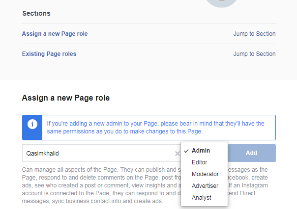 How To Add Admin To A Facebook Page 2020 In 2020 Facebook Business Business Pages New Facebook Page