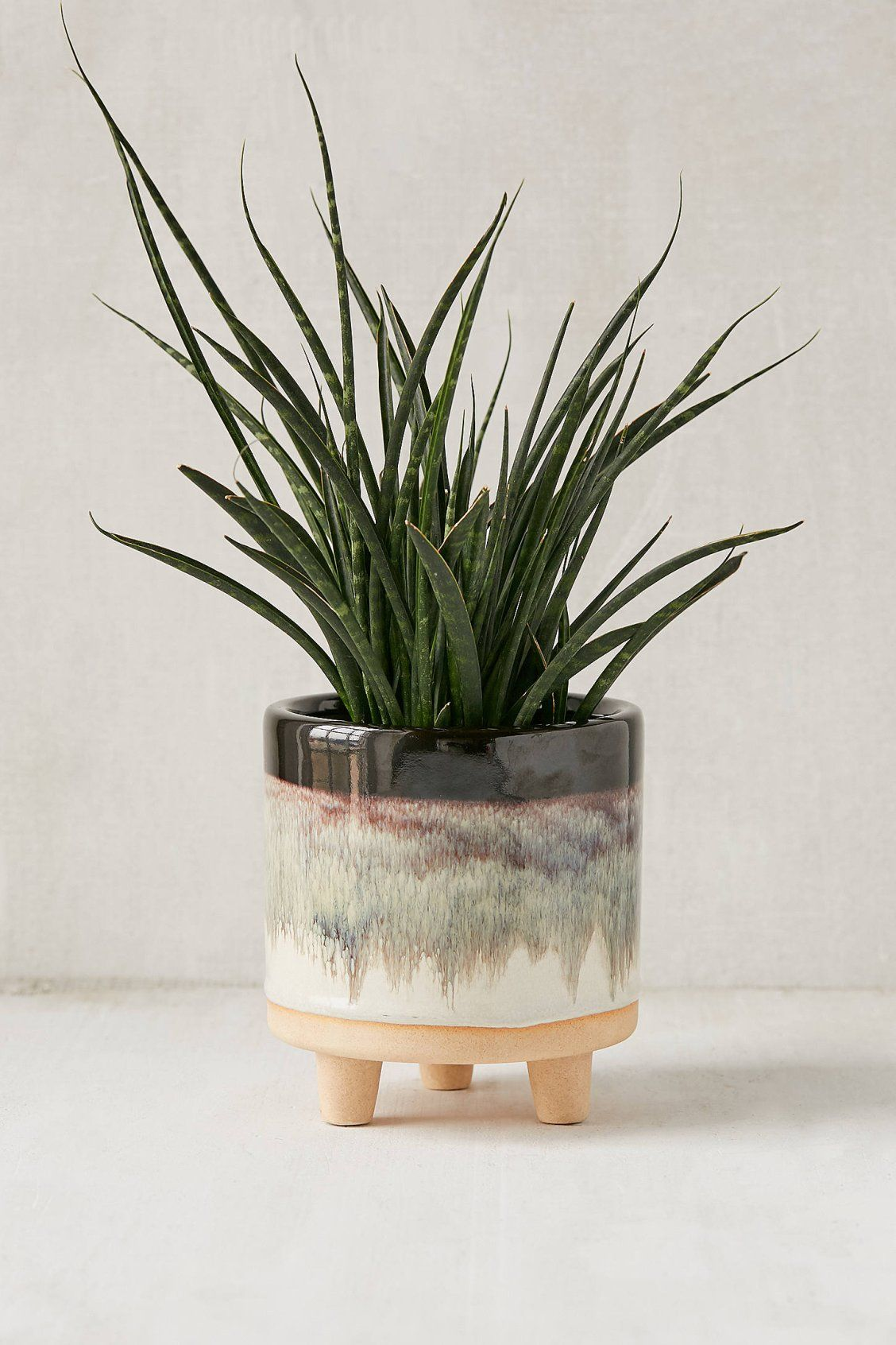 Liv 5 Footed Planter Urban Outfitters Planters Indoor Planters Ceramic Planters