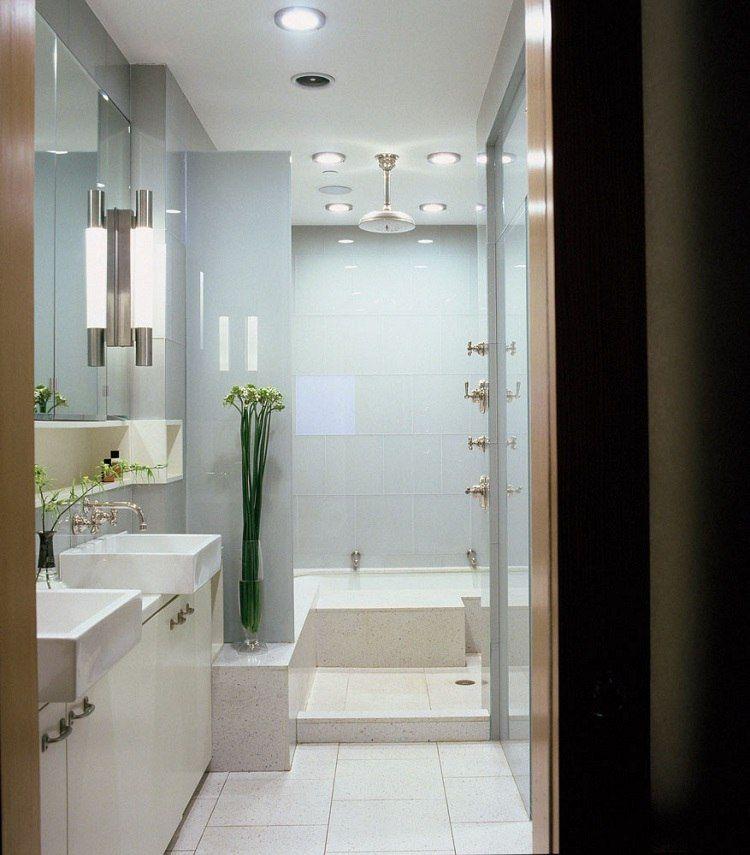 28 idées du0027aménagement salle de bain petite surface - plafond salle de bain