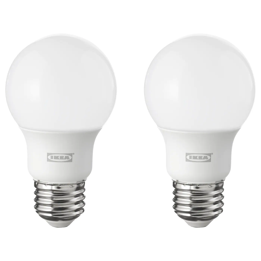 Ryet Led Bulb E26 600 Lumen Globe Opal Power 6 0 W Package Quantity 2 Pack Shop Online Or In Store Ikea In 2020 Led Bulb Ikea Light Bulbs Led Light Bulb