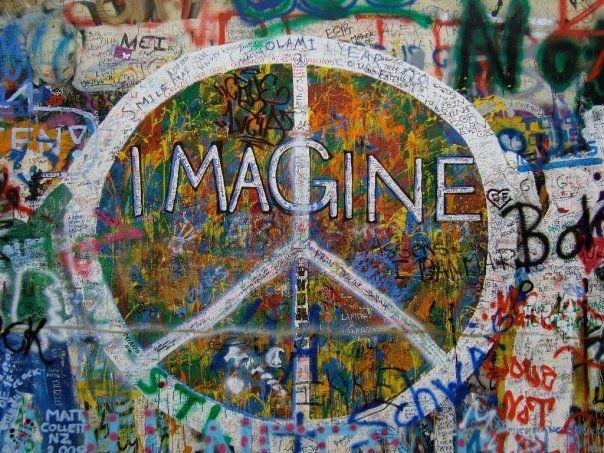 John Lennon Wall Prague Graffiti Wall Art Graffiti Wall Art