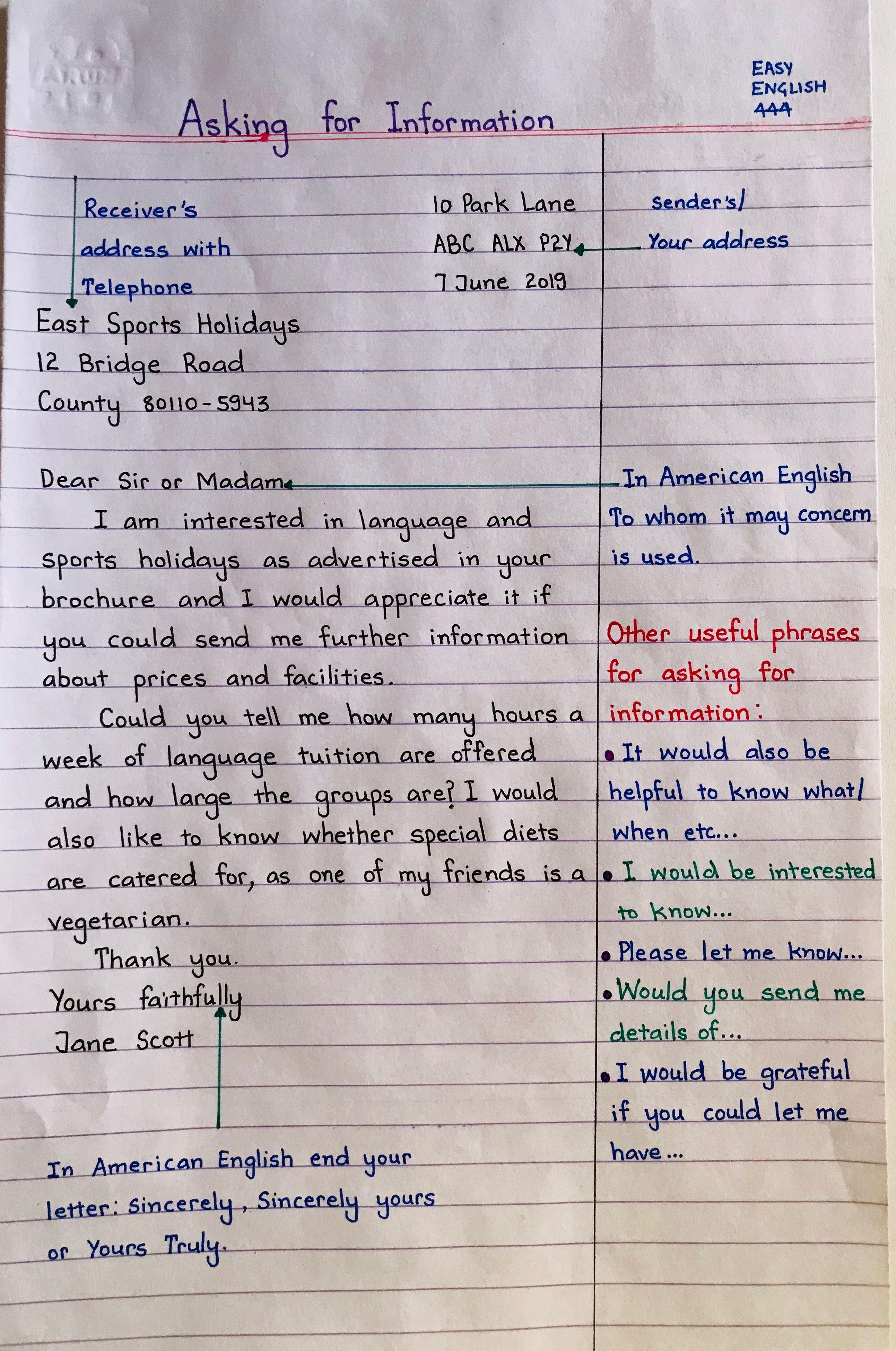 Letter Writing Handwritten Language English Learn Learn