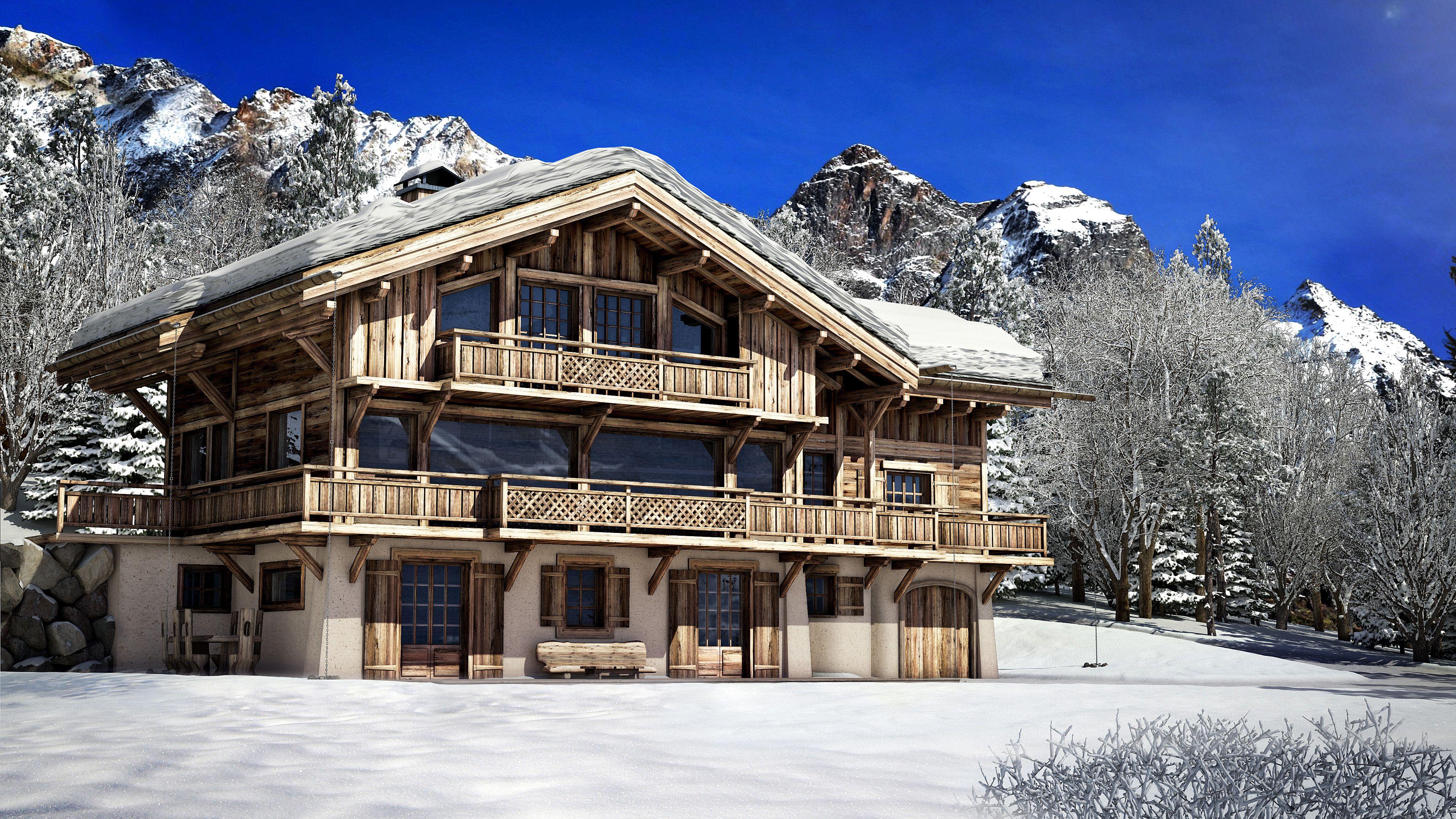 Epingle Sur Chalets In The Alps Chalets Dans Les Alpes