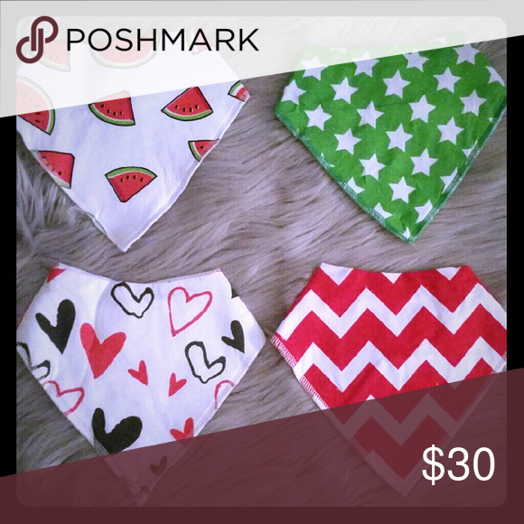 NEW Baby bandana triangle bibs NWT (With images)   New ...