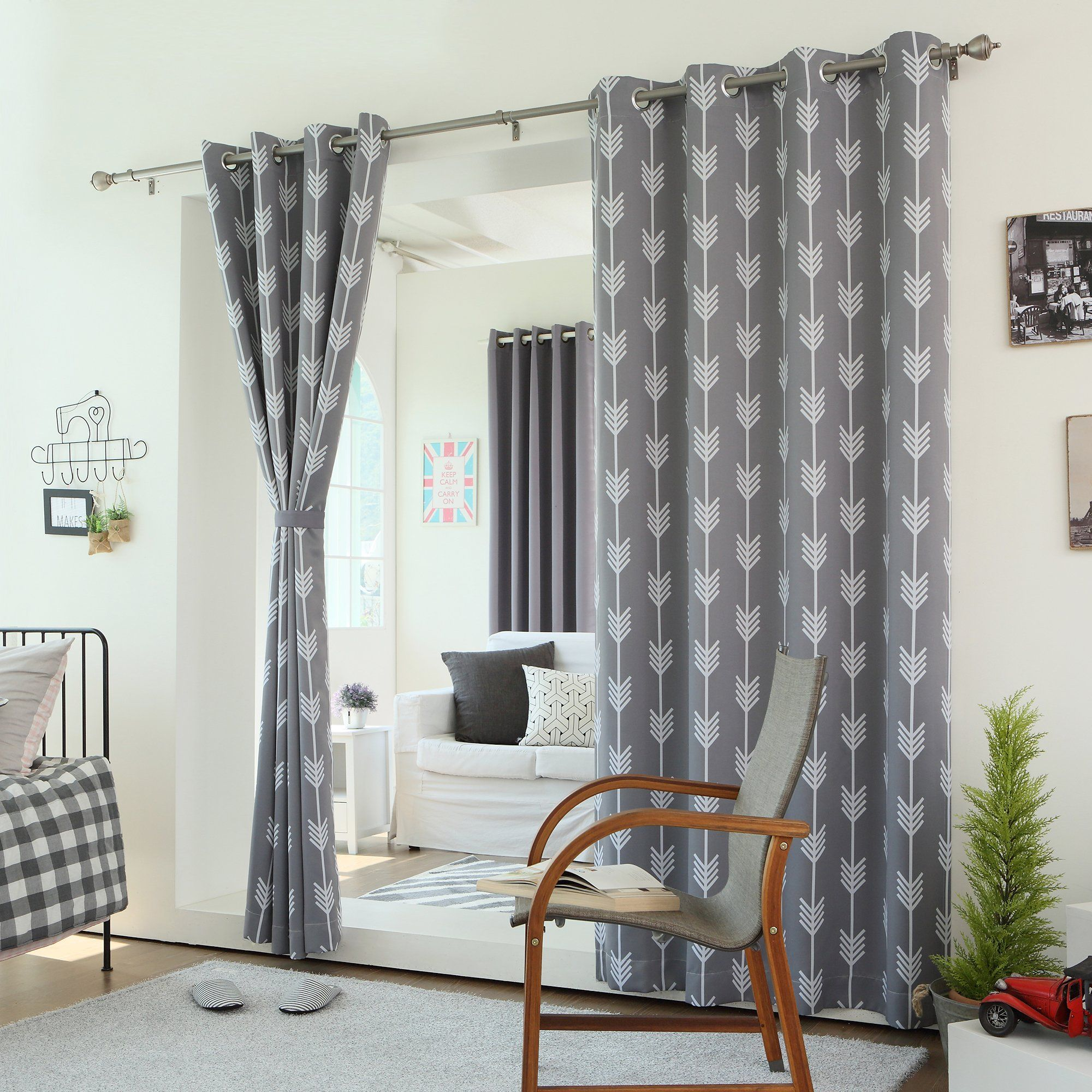 Best Home Fashion Grey Arrow Room Darkening