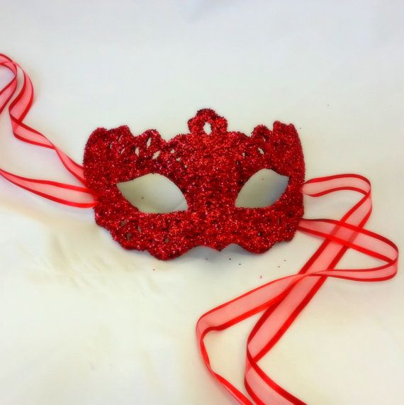 Dorothy Red Filigree Shimmer Venetian Masquerade by samanthapeach, $49.99