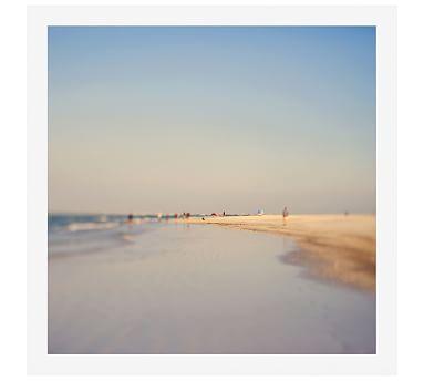 Purple Haze by Alicia Bock, 48 x 48 Wood Gallery Frame White, Mat