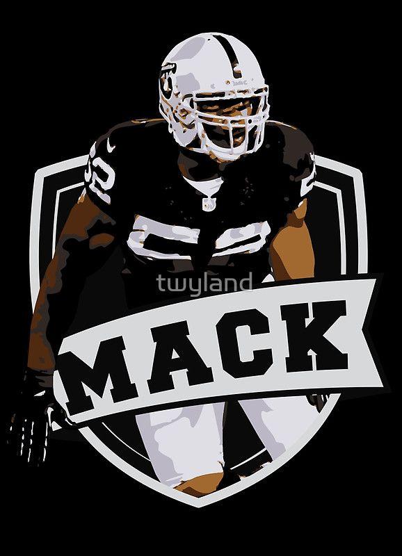 Khalil Mack Oakland Raiders Art Print Oakland Raiders Raiders Oakland Raiders Fans