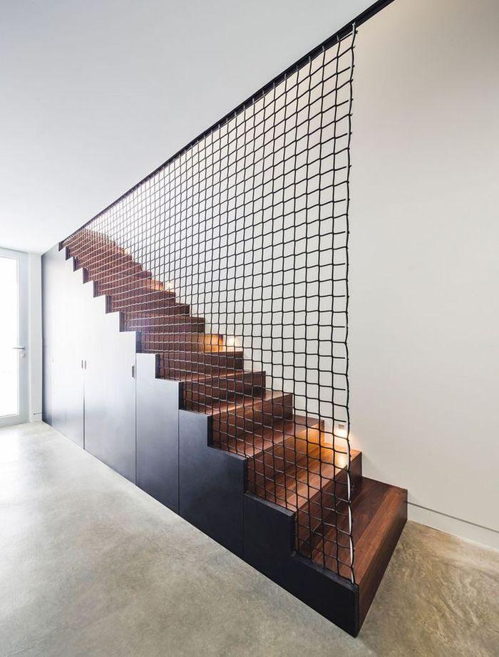 1001 ides pour raliser une dco monte descalier originale stickers escalier garde corps metal et effets de peinture