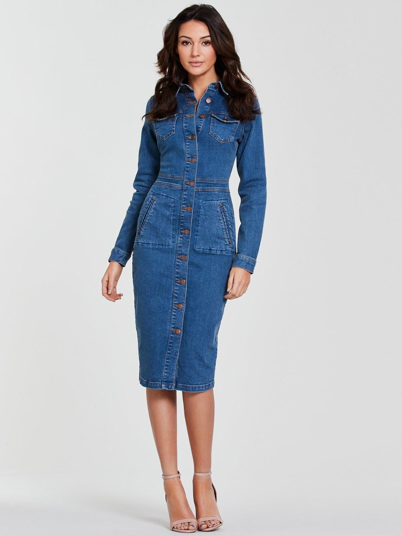 24+ Long sleeve denim dress ideas in 2021
