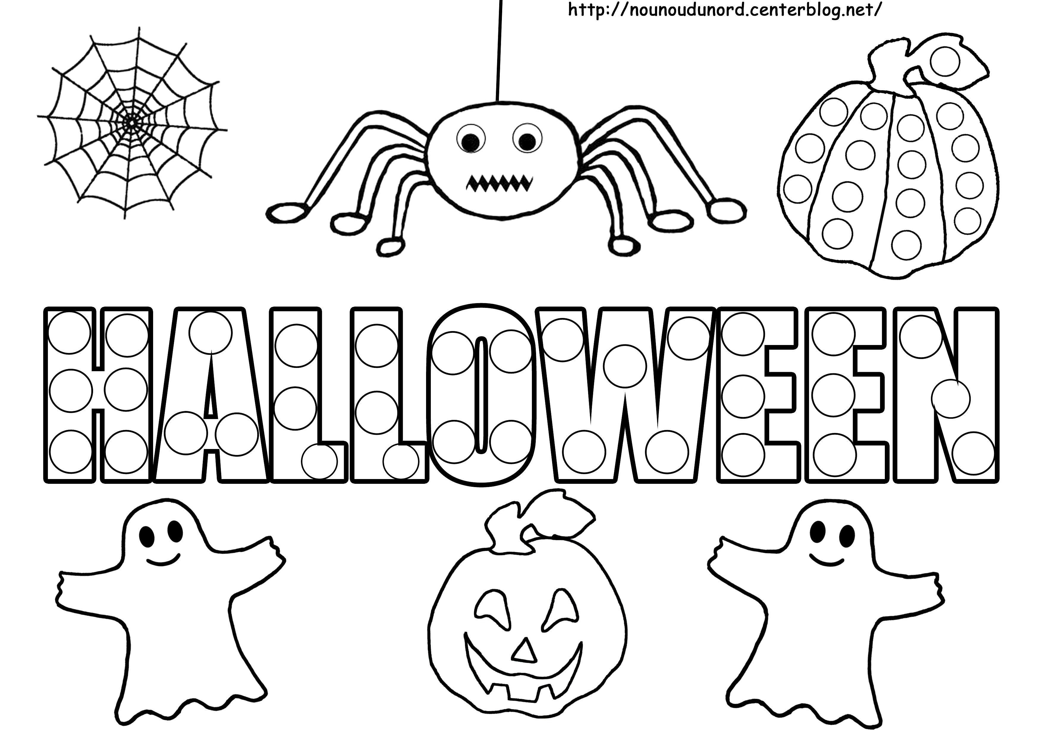 Épinglé par Agnès Pelletier sur Halloween Coloriage