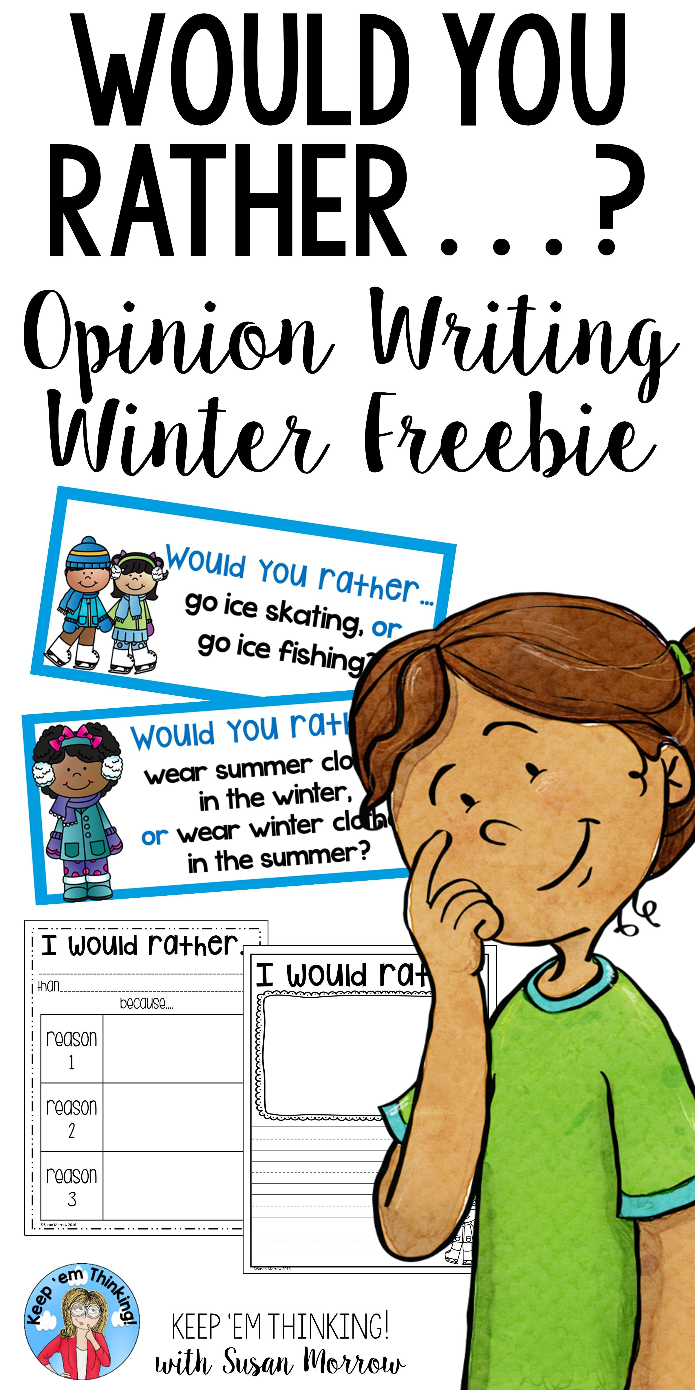 Opinion Writing Would You Rather Winter Theme Free