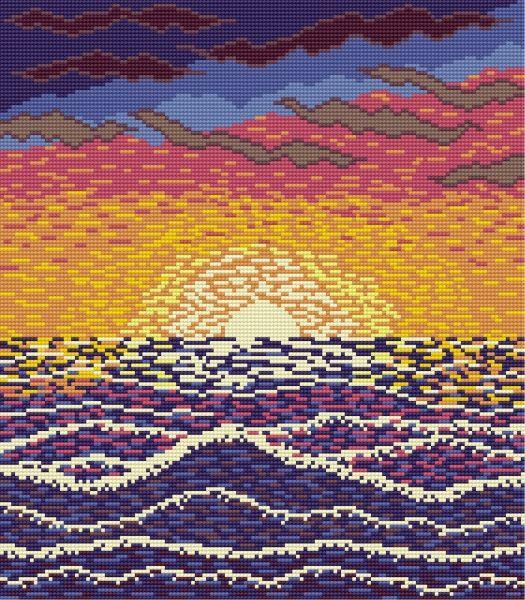 Colourful Sunset (sea, Sun, Ocean)