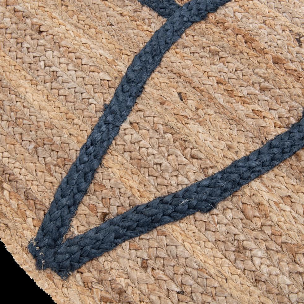tapis naturel beige et bleu 160x230cm