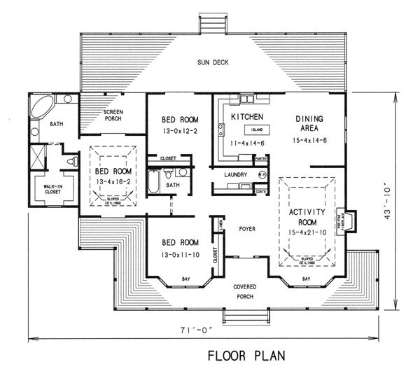 Floor Plan Image Of Featured House Plan Pbh 7752 House Plans How To Plan Simple House Plans