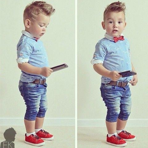 El bebé de manga corta camiseta azul con corbata + pantalones cortos de  mezclilla de los niños niño ropa de moda para hombre pantalones vaqueros de  la ropa ... e750d60cdad